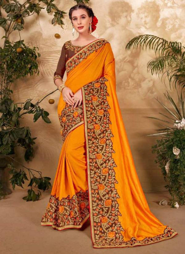 Kalista Fashion Century Vol 3 Series 64351-64356 Vichitra Silk Latest Designer Party Wear & Fancy Sarees Collection For Woman