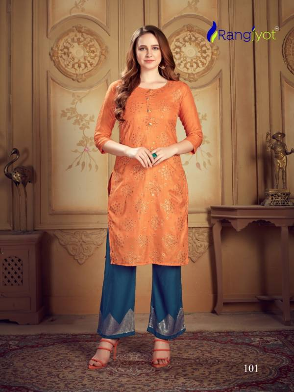 Rangjyot Nargis Vol 1 Rayon With Sequence Work Festival Wear Pant With Kurti Collection