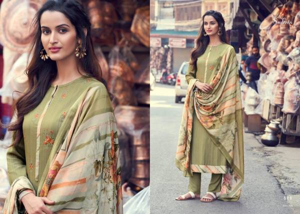 Sudriti Phillour Series 508-597 Cotton Satin Digital Print With Fancy Embroidery Work Casual Wear Salwar Suits Collection