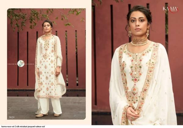 Karma Noor Vol 3 Silk Minakari Jacquard Trending Look Palazzo Suit Collection