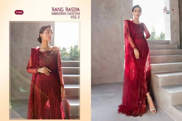 Shree Fab Rangrasiya Vol 2 Series 1546-1548 Net With Embroidery Work Eid Special New Designer Wholesale Price Pakistani Suits Collection