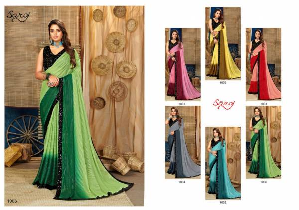 Saroj Bollywood Georgette Fancy Designer Sarees Collection