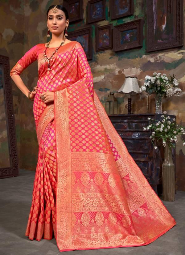Asisa Tulsi Series 6101-6106 Banarasi Silk New Designer Festival Wear Gorgeous Look Sarees Collection
