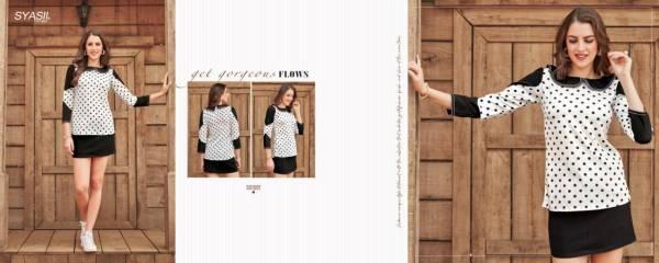 Syasii Sumeer  Viscose-Lycra Western Wear Fancy Top Collection