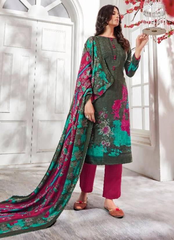 Suryajyoti Nazia Vol 2 Series 2001SN-2010SN Pashmina Dobby Latest Winter Season New Designer Regular Wear Wholesale Rate Suits Collection
