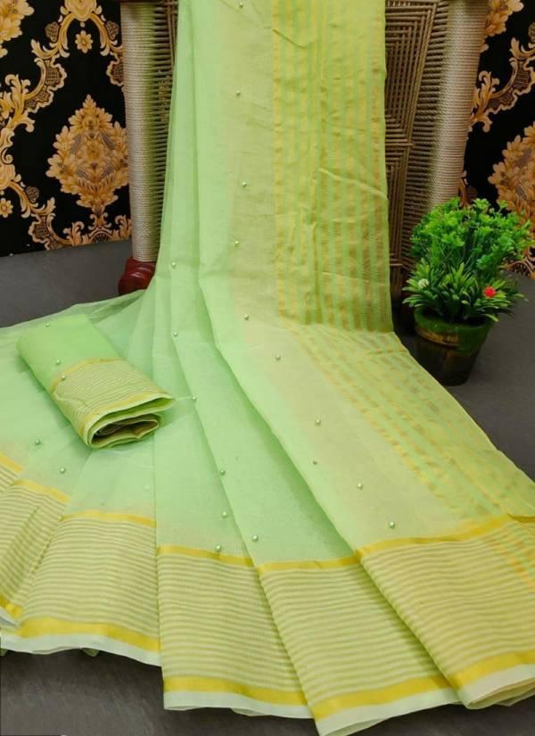 Ruhi Fashion Series 391-395 Kota Doriya With Beautiful Pearl Work Fancy Sarees Collection
