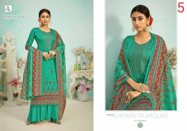 Alok Suit Mahnoor Pure Zam Digital Print With Embroidery And Swarovski Diamond Work Festival Wear Designer Salwar Suits Collection