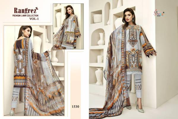 Shree Fab Rangrez Series 1525-1530 Pure Lawn Printed With Designer Embroidery Work Pakistani Suits Collection