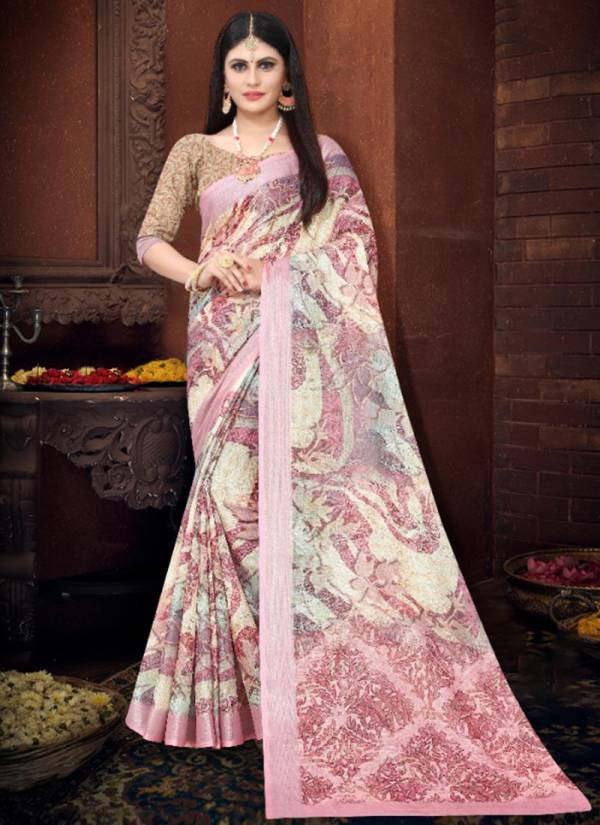 Silk Villa Nikasha Vol 2 Series 17001-17012 Linen Digital Printed Exclusive Designer Festival Wear Sarees Wholesale Collection