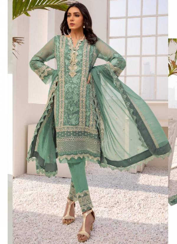 Ramsha Vol 11 Georgette With Heavy Embroidery Work Festival Wear Designer Pakistani Suits Collection
