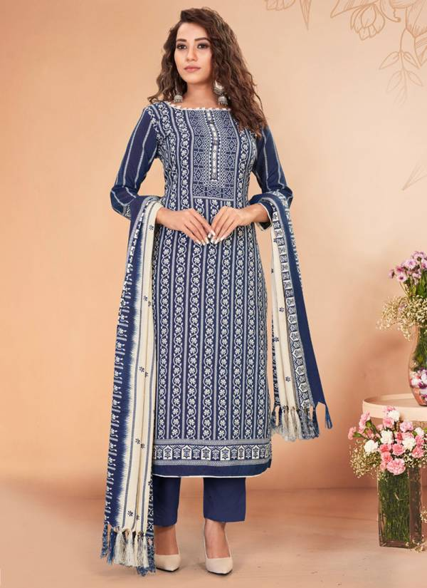 Bipson Kyraa Vol 2 Series 1222-1225 Pure Pashmina Printed Office Wear Latest Designer Winter Special Salwar Suits Collection