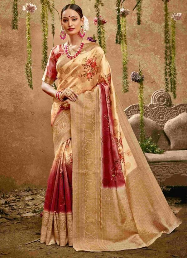 Shakunt Malaprabha Silk Weaving Digital Printed Work Wedding Wear Designer Sarees Collection