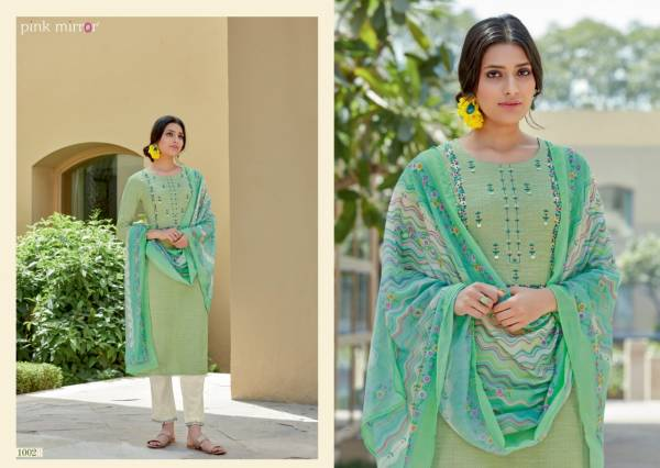 Pink Mirror Crayons Viscose With Embroidery Work Festival Wear Designer Salwar Suits Collection