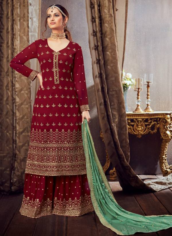 Hotlady Samaira Series 6161-6166 Pure Georgette With Santoon Lining Latest Designer Festival Wear Sharara Suits Collection