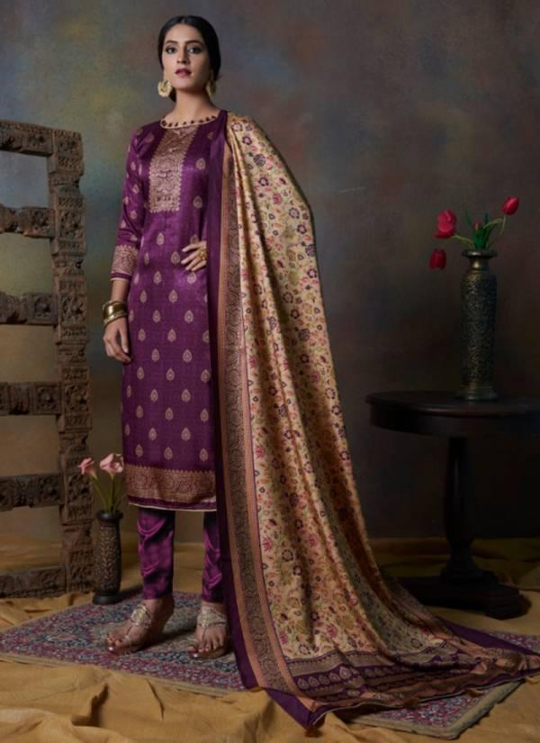 Bipson Hayat Series 1096-1099 Tussar Silk Digital Print Designer Suits Collection