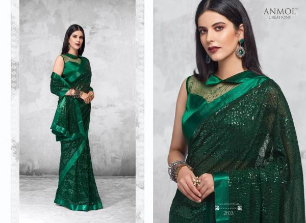 Anmol Creation Innara Series 2101-2109 Blooming Georgette With Sequins Work Stunning Designer Party Wear Sarees Collection