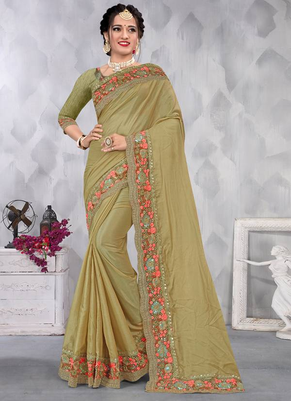 Nari Fashion Unique Pure Satin With Coding With Sequence Embroidery Work Sarees Collection