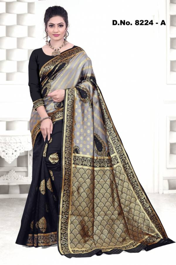 Kodas Harmony Series 8224A-8224D Silk With Stone Work Exclusive Fancy Designer Traditional Wear Sarees Collection