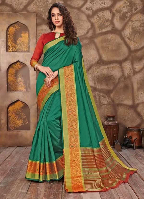 Saroj Choklet CT1001 To CT1008 Designer Border Work Latest Festival Wear Cotton Silk Sarees Collection