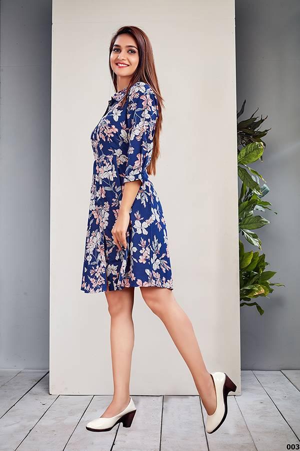 An Bazaar Vyona Series Vyona001-Vyona006 Fine Crepe Designer Short One Piece Dresses Collection