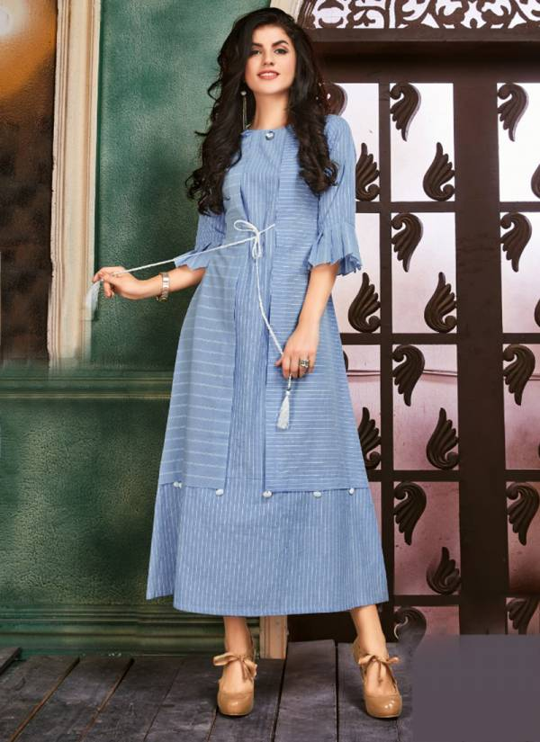 Dhanyawad Cotton Candy Series 511-517 Pure Handloom Cotton Latest Designer Casual Wear Kurtis Collection