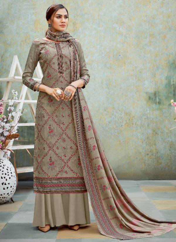 Alok Suit Anikaa Series 525-001 - 525-010 Pure Wool Pashmina Digital Style Exclusive Winter Suis Collection