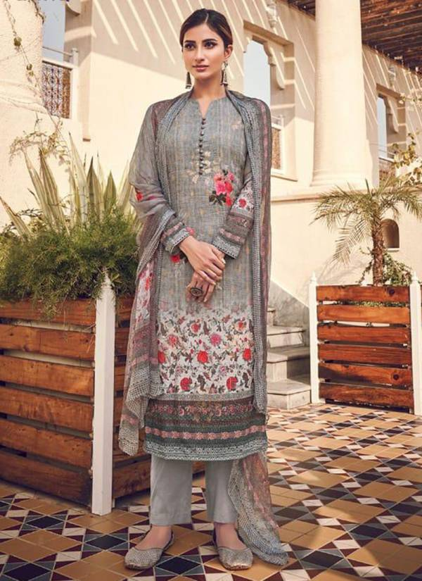 Swagat Raaga Series 2001-2008 Pure Viscose Fine Silk Sequence Embroidery Digital Print Work Designer Salwar Suits Collection