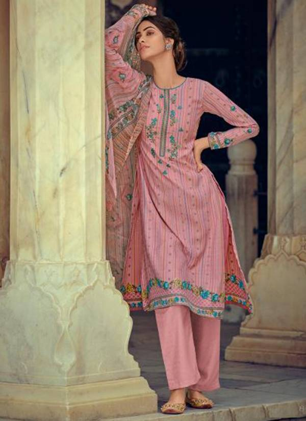 Deepsy Elize Series 80001-80006 Self Wooven Pashmina Print Embroidery Work Winter Special New Designer Palazzo Suits Collection