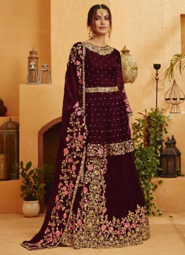 Your Choice Kohinoor Series 3569-3572 Blooming Georgette With Dull Santoon Inner Wedding Wear Suits Collection