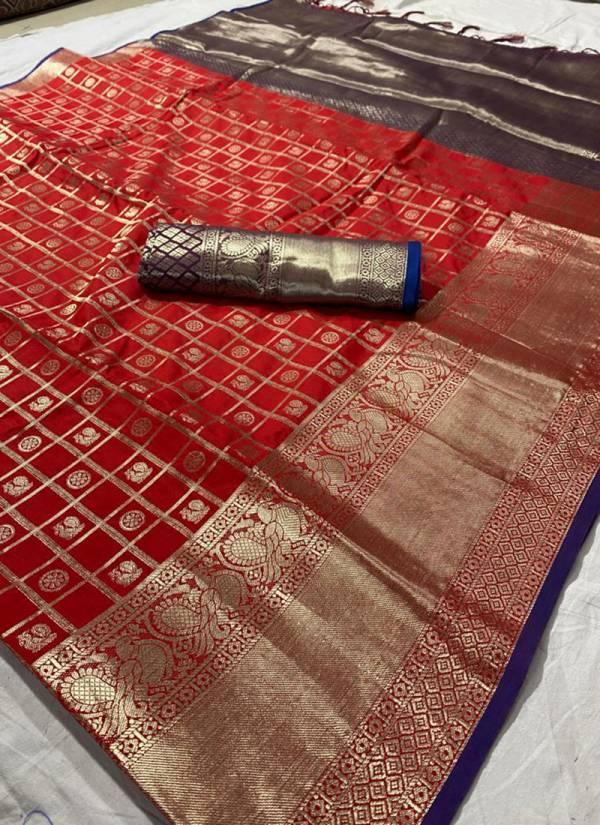 Redolance Peacock Butti Series PB-1 - PB-4 Cotton Silk Latest Designer Exclusive Festival Wear Sarees Collection