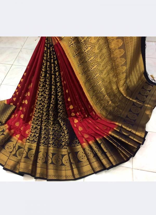 Nakshatra Fashion Studio Nylon Silk With Zari Weaving Reach Pallu Non Catalogues Sarees Collection
