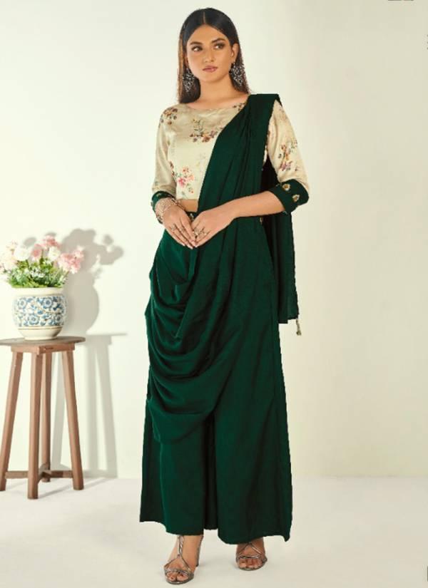 Anyuka Cherry Series An 115-An 119 Viscose Satin Silk Stylish Look Diwali Special Kurti Collection