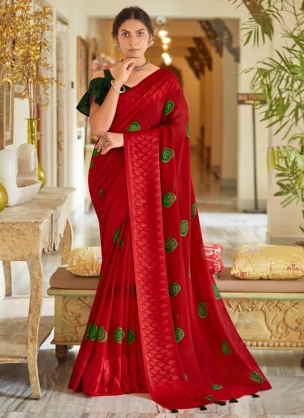 5D Designer Amber 5 Georgette Fancy Digital Printed Work Regular Wear Designer Sarees Collection