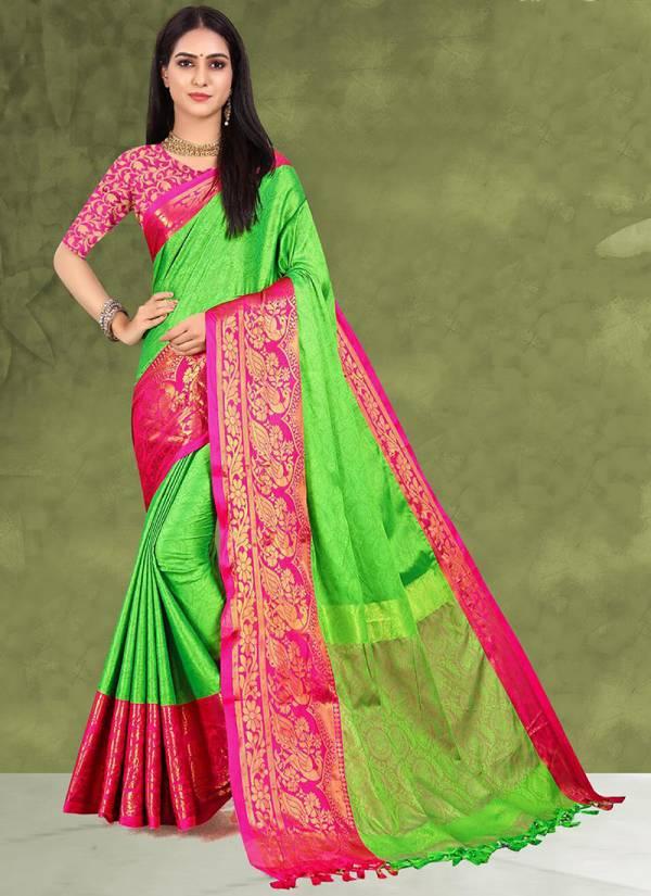 Aura Dhunn Wedding Wear Blended Silk Sarees Collection