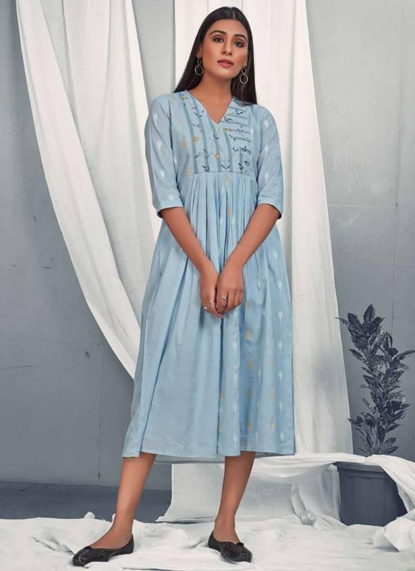 Dovi Fashion Hazel Dobby With Cotton Designer Kurti Collection