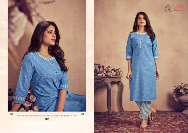 Lilly Jental Cotton With Fancy Designer kurti With Pant Collection
