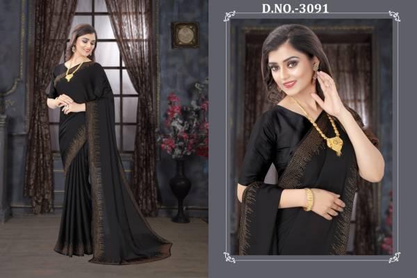 Nari Fashion Sanskar Pure Satin Heavy Siroski Hot Fix Stone Worked Heavy Designer Sarees Collection