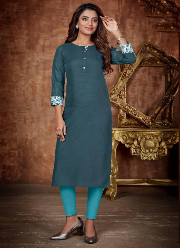 Krisha Export Anaya Magic Cotton Casual Wear Designer Kurti Collections
