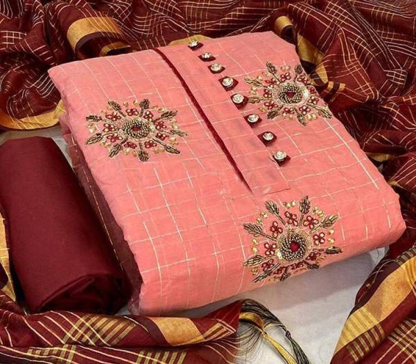 Designer Suits Series AA-AD Model Chex With New Designer Fancy Hand Work Salwar Suits Collection