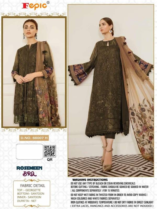 Fepic Rosemeen BRQ Series 66007A-66007N Georgette With Embroidery Work Eid Special Designer Pakistani Suits New Collection