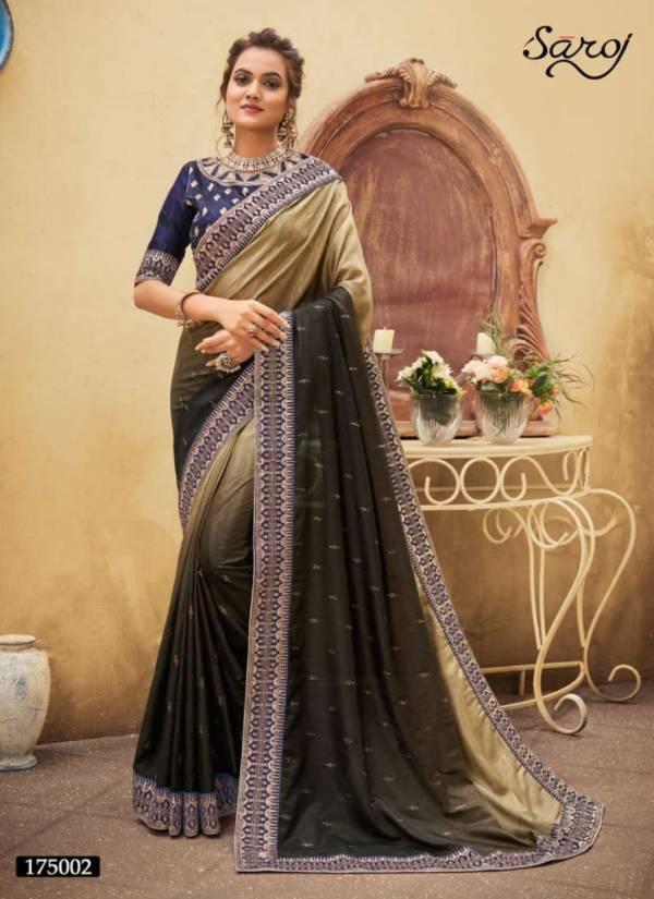 Saroj Savariya Vichitra Silk with Swarovski Worked Heavy Designer Wedding Wear Sarees Collection