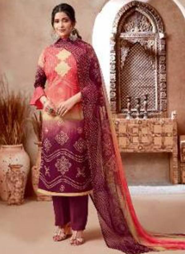 Kala Fashion Tanya - 2 Series 1001-1008 Pure Cotton Nasni Chiffon Printed Neck Regular Wear Designer Salwar Suit Collections