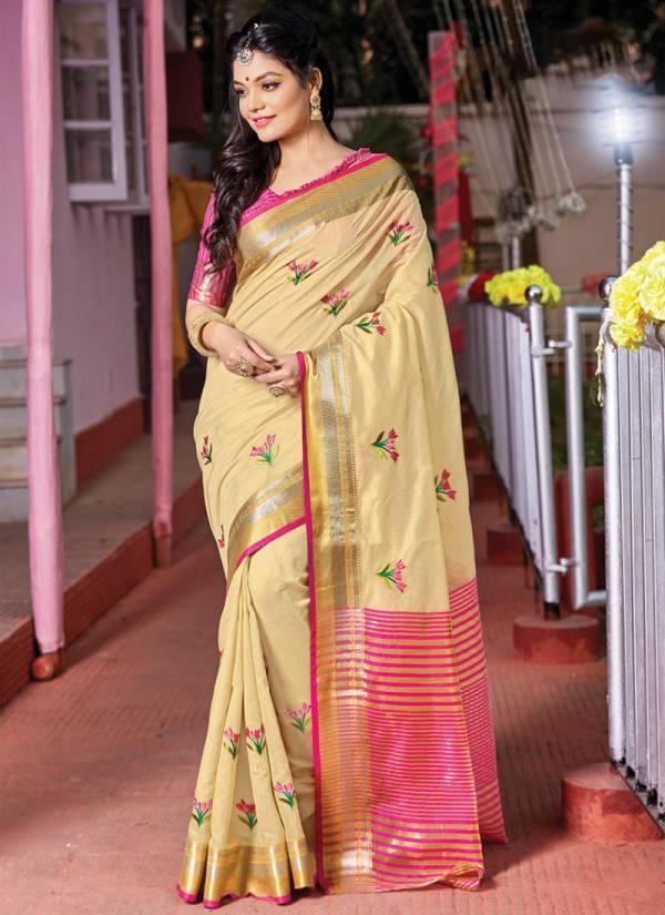 Sangam Prints Jolly Silk Handloom Cotton Festival Wear Designers Sarees Collection