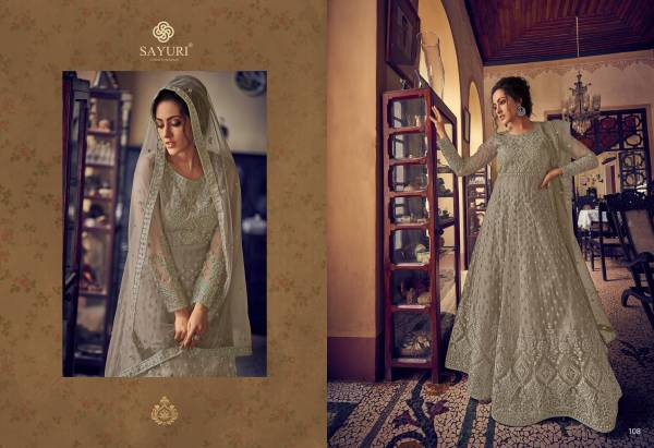 Aashirwad Sayuri Aarushi Series 105-108 Butterfly Net With Full Embroidery Work Anarkali Suits Collection