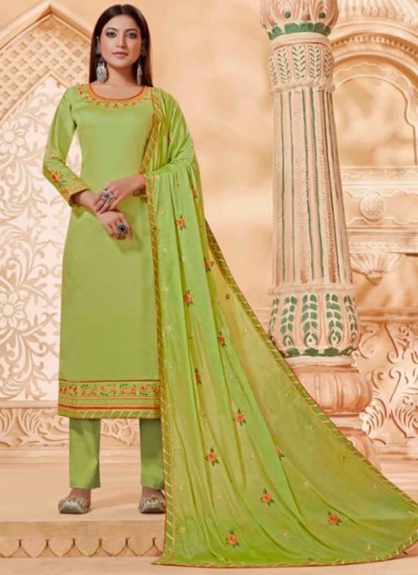 Kalarang Panash Series 1851-1854 Jam Silk Embroidery Work New Fancy Daily Wear Salwar Suits Collection