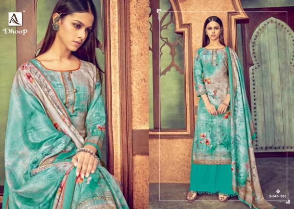 Alok Suit Dhoop Pure Jam Digital Print With Swarovski Work Palazzo Suits Collection