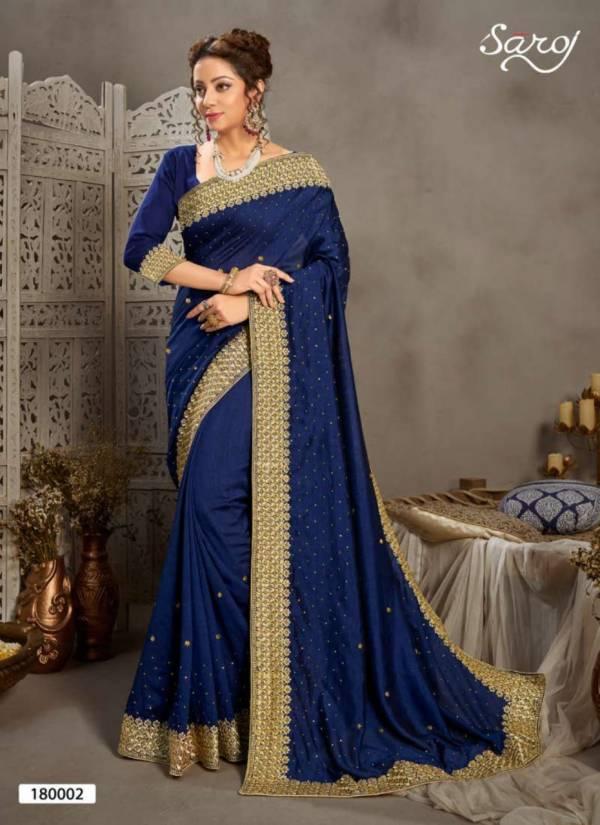 Saroj Kala Nidhi Vichitra Silk with Heavy Border Diamond and Butti Work Festival Wear Sarees Collection