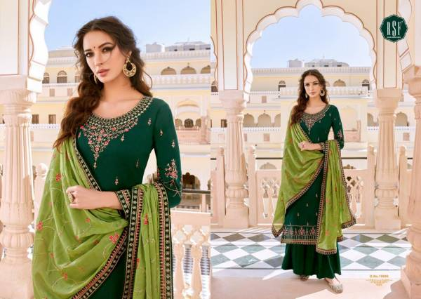 RSF Neera Pure Chinon Parampara Silk With Work Palazzo Suits Collection