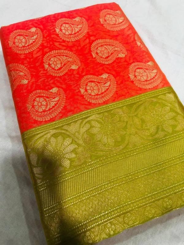 Redolance Zoya Series M-0001 - M-0006 Lichi Silk With Zari Weaving Work Traditional Wear Sarees Collection