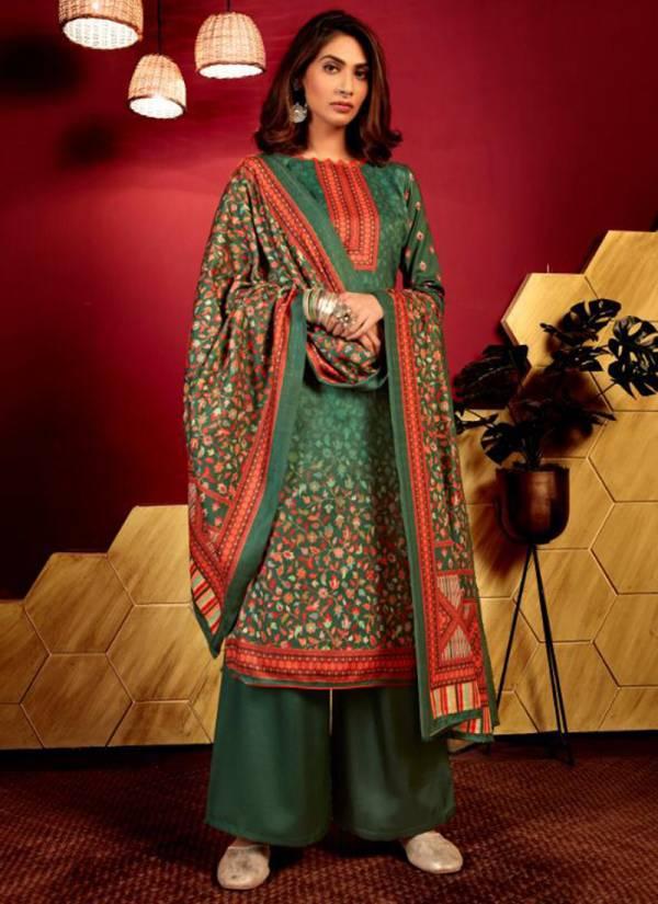 Bipson Inayat Series 1216-1219 Woollen Pashmina Digital Printed Regular Wear & Winter Special Pashmina Palazzo Suits Collection
